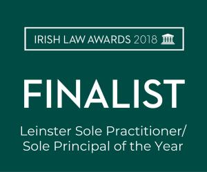 Irish Law Awards 2018 finalist Leinster sole practioner